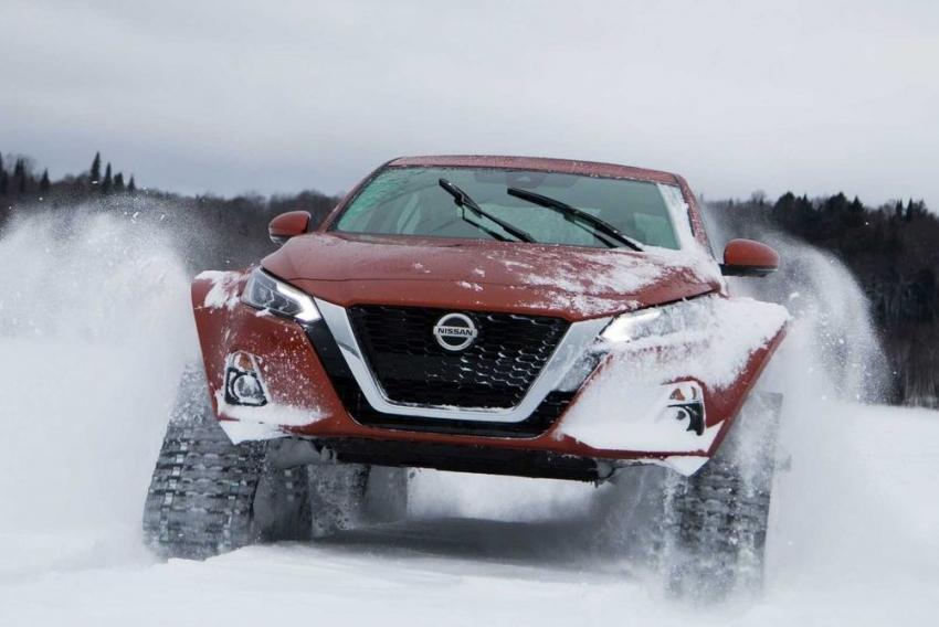 Snowmobil z napędem 4x4 - Nissana sposób na zimowe zaspy